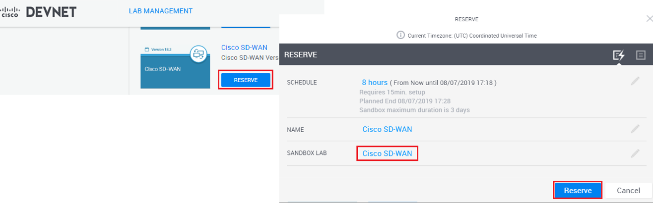 How To Reserve Sd Wan Sandbox Lab Dclessons